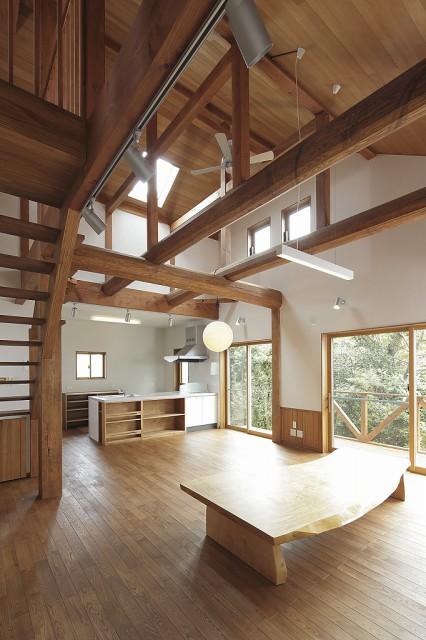 s-吹抜けと自然素材の家 (2)