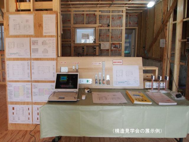 (構造見学会の展示例)
